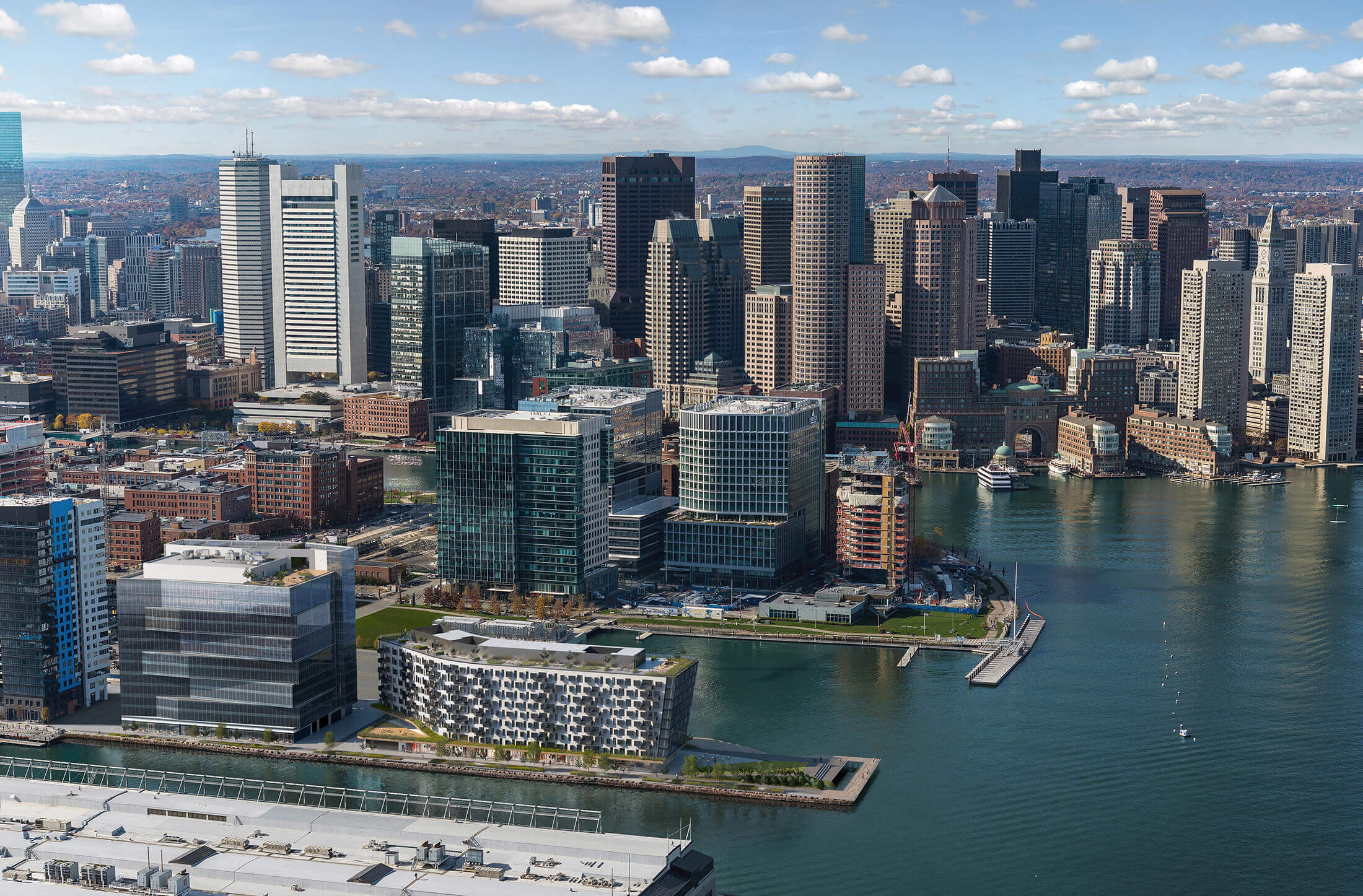 Boston's PIER 4 Aerial Photo by Tishman Speyer with Building Removal