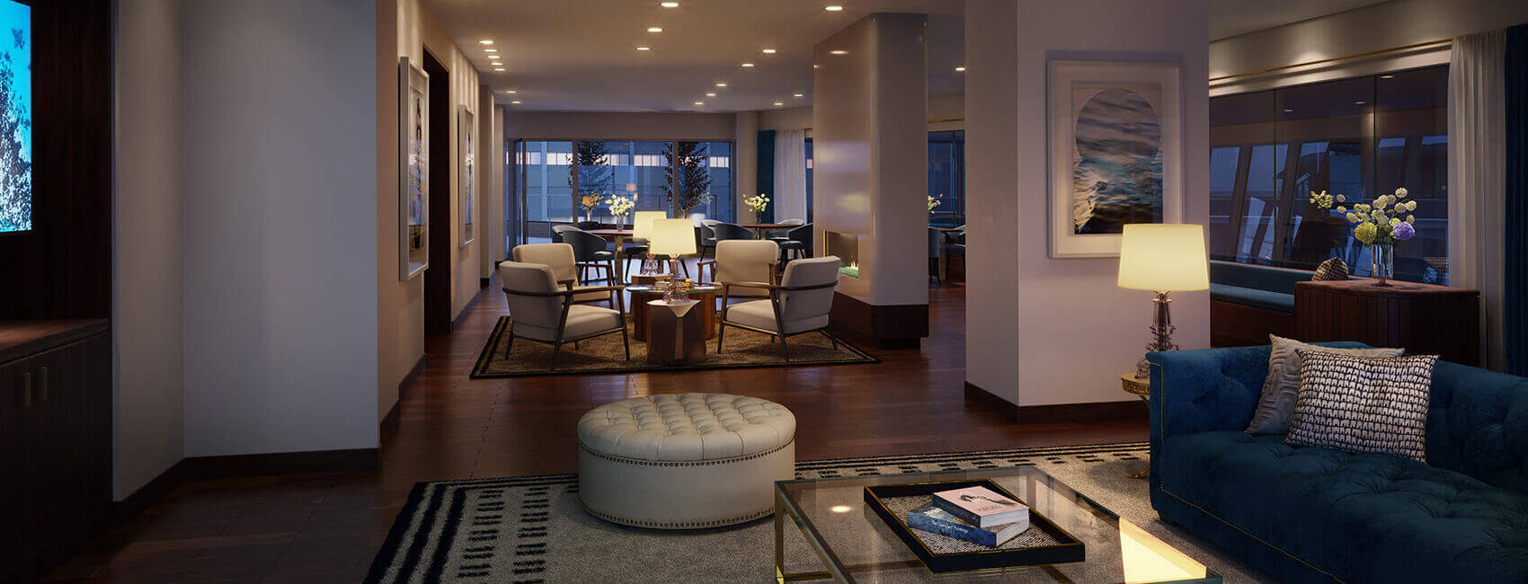 PIER 4 Condos for Sale | Lobby Club Room by Tishman Speyer | Amenity